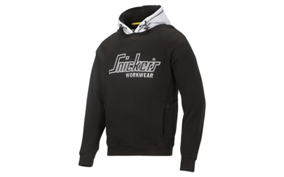 Snickers Sweatshirt Hoodie with Multipockets -  Black/Grey