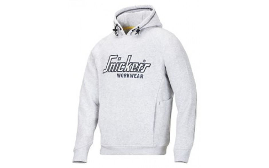 Snickers Sweatshirt Hoodie with Multipockets - Grey