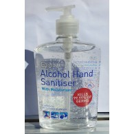 70% Alcohol Hand Sanitiser 500ml Pump Bottle