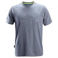 Snickers Logo T-Shirt Blue Melange