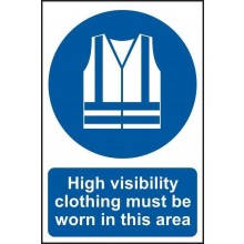 Hi Viz Required Sign PVC Self Adhesive 200x300mm