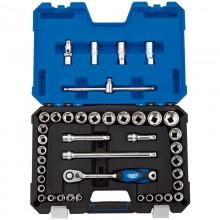 "Draper Expert 16453 1/2"" 41 Piece Metric/Imperial Socket Set"