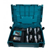 Makita 196696-4 Power Source Kit - 4x 3ah, Charger & Case