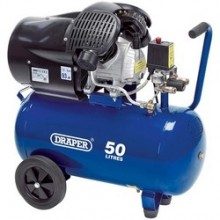 Draper V-Twin 50l Air Compressor 8 Bar