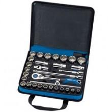 """Draper Expert 31 Piece 1/2"""" Socket Set in Zip Case"""