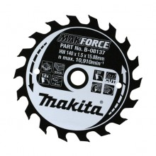 Makita Makforce Circular Saw Blade 165x20mm 10 Tooth