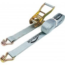 Warrior Ratchet Strap with Claw Hooks 50mm x 8m - 5000kg