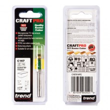 Trend CRAFTPRO Guided trimmer 6.35mm diameter x 12.7mm