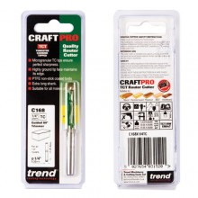 Trend CRAFTPRO Guided trimmer 6.35mm diameter x 25.4mm