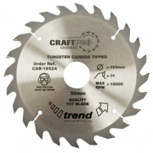 Trend Craft saw blade 160mm x 24 teeth x 20mm