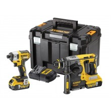 DeWalt Brushless Twin Pack - SDS & Impact Driver, 2x5ah