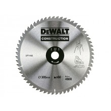 DeWalt TCT Circular Saw Blade - Construction 305x30mm 60t