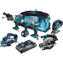 Makita DLX6067PT 18v 6 Piece Kit with 3x5ah & Dual Charger