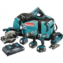 Makita DLX6068PT 6 Piece Kit - 3x5ah, Dual Charger & Kit Bag