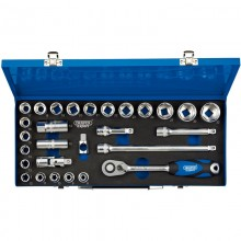 "Draper Expert 28-Piece 1/2"" Drive Socket Set with Metal Case"