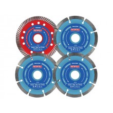 Faithfull 4 Piece 115mm Diamond Blade Set