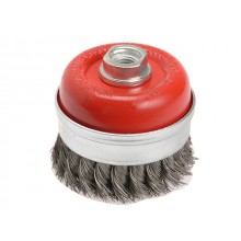 Faithfull WIRE CUP BRUSH T/KNOT 100XM14X2  0.50MM