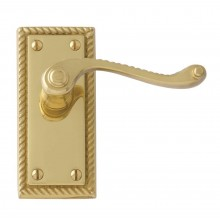 Georgian Lever Latch Handle Polished Brass