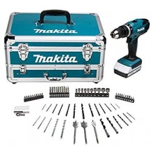 Makita HP457DWX4 18v G-Series Combi Drill with Accessories