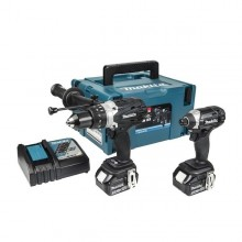 Makita DLX2145TBJ 18v Heavy Duty Twin Set: 5ah Black Edition