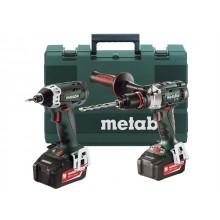 Metabo 18v Combi & impact Drill Kit c/w 2 4.0ah Batteries