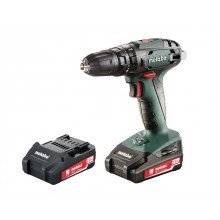 Metabo 18v Combi Drill c/w 2 x 2.0ah Li-ion Batteries