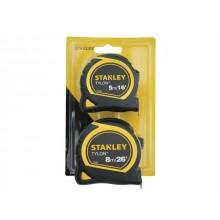 Stanley Tylon Tape Measure 5m/16' & 8m/26' Twin Pack