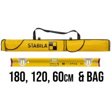 Stabila R-Type Spirit Level - Set of 3 Plus Bag