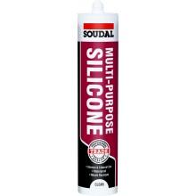 Soudal Multi-Purpose Silcone 270ml Cartridge - White