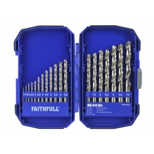 Faithfull 19 Piece HSS Drill Bit Set XMS18HSS19