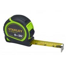Stanley STHT30604 Hi-Vis Tylon Tape 8m XMS19HVTAPE8